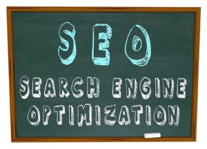 The words Search Engine Optimization written on a chalkboard